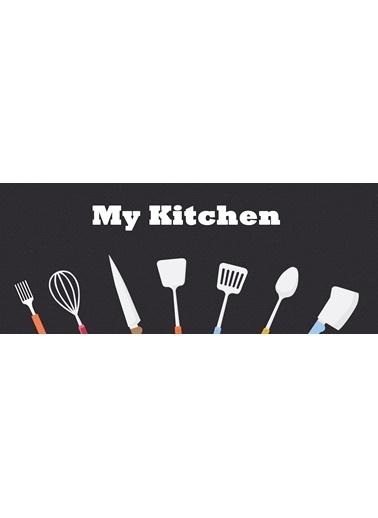 MarkaEv Kitchen 03 Mutfak Halısı Renkli